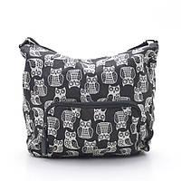 Женская сумочка через плечо 1629 №2 black (сова)