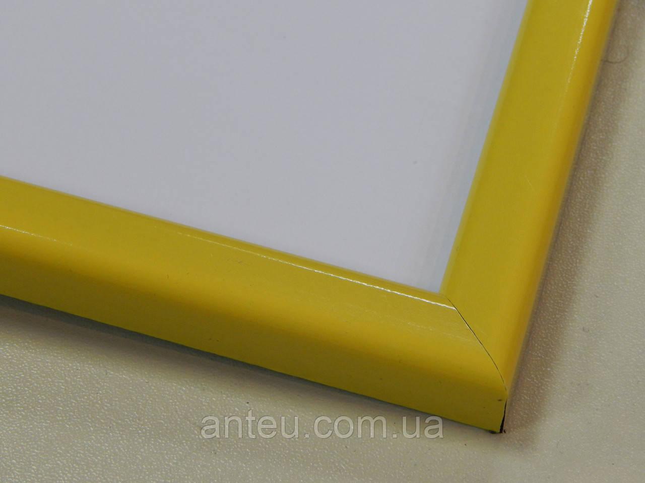 Рамка А4 (297х210).Рамка пластиковая 14 мм.Желтый.