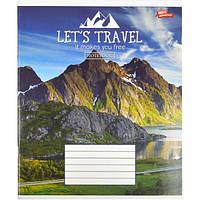 """Тетрадь цветная 36 листов, клетка """"Давай путешествовать"""""""
