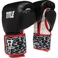 Женские Боксерские перчатки TITLE Boxing Safari Leopard Fitness Gloves
