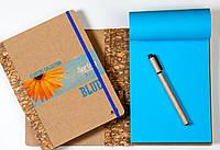 "ЭкоБлокнот с синими листами серии ""Flowers"" + ручка"