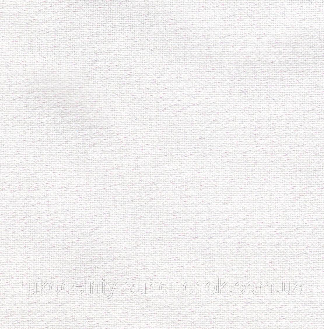 Ткань равномерного переплетения Zweigart Murano Lugana 32 ct. 3984/11 белый с перламутровым люрексом
