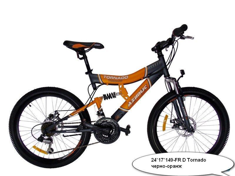 Горный подростковый велосипед Азимут 26 дюймов 19 рама Tornado