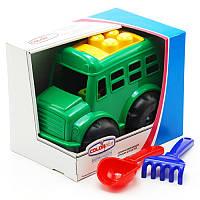 """Автобус """"Бусик"""" №4 автобус, лопатка и грабельки 0114"""