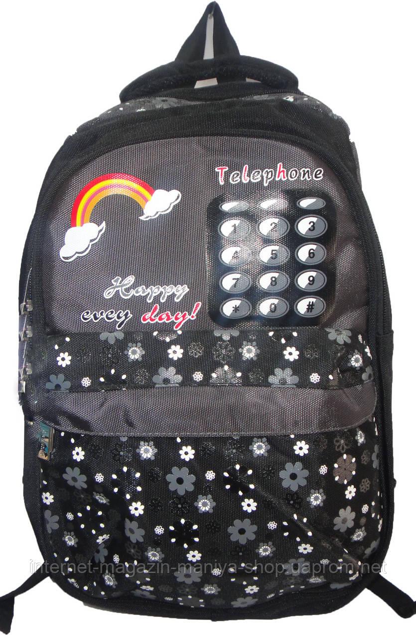 Рюкзак для девочки 402 телефон цветы