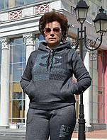 Женский спортивный костюм на флисе; разм 48, 50,52, фото 1