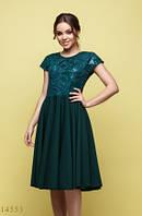 Женское платье Лакрес изумрудный