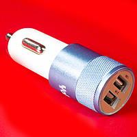 Двухпортовое автомобильное зарядное устройство Yopin CC-019 USBx2 (2.1A/1A) синее для смартфона навигатора