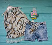 Летний нарядный костюм с шортами на 1-5 лет
