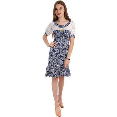 Платье женское со вставкой гипюра Elegant 0122