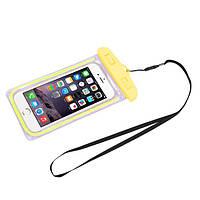 """Водонепроницаемый чехол с зажимом """"Waterproof Bag"""" желтый для iPhone"""