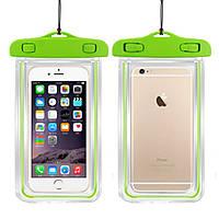 """Водонепроницаемый чехол с зажимом """"Waterproof Bag"""" зеленый для iPhone"""