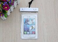 """Водонепроницаемый чехол с зажимом """"Waterproof Bag"""" белый для iPhone"""