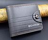 Кожаный мужской кошелек Boweisi серый