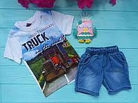 """Летний костюм с джинсовыми шортами """"Truck"""""""