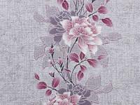 Обои на стену, цветы, сереневый,  акрил на бумаге, Лейла 7048-07, цветок, 0,53*10м