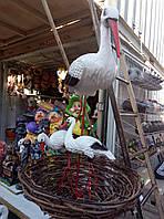 """Декоративные фигуры для вашего дома""""семья аистов+гнездо"""""""