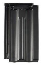 Черный (ангобированный). Модель Гранат 13V - керамическая черепица Braas (Брас)