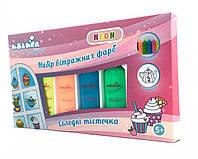 Набор витражных красок Neon Сладкие пирожные, Идейка