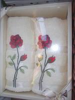 Махровые полотенца в подарочной упаковке оптом и в розницу,размер 90х50 2шт