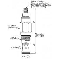 Клапан патрон RD10A25WL-WN LAN 45-315bar (M20x1.5) 95l/min DN06
