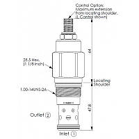 Клапан патрон RD3A25CL RD1-14UNS-2A 70-420bar 200l/min DN10