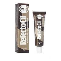 Краска для бровей и ресниц (натуральный коричневая) RefectoCil №3 Natural Brown , 15мл