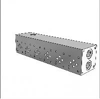 Плита гидравлическая монтажная 6 секций DN06