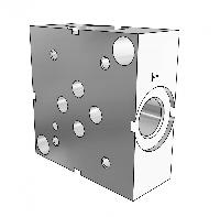 Плита монтажная гидравлическая одноместная, отверстия сбоку - SPS DN06 1/2.