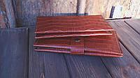 Кожаный кошелёк по кожу питона