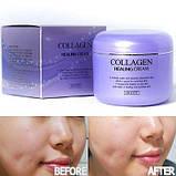 Ночной питательный крем с коллагеном Jigott collagen healing cream, фото 3
