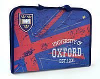 """Папка-портфель на молнии  с тканевыми ручками """"Oxford"""" 1 Вересня"""