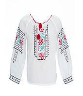 Блуза девчачья белая Модерн (Детские вышиванки)