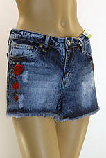 женские джинсовые шорты c вышивкой , фото 2
