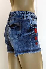 женские джинсовые шорты c вышивкой , фото 3