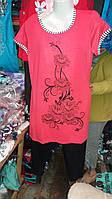 Костюм женский с бриджами летний батал