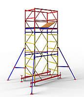 Вышка-тура мобильная облегченная 1,7 x 0,8 м (2+1) Раб.высота 4,8 м, фото 1