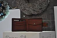 Тёмно-коричневый мужской кошелёк ручная работа