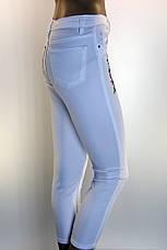 джинсы летние с вышивкой Queen, фото 3