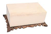 Шкатулка с вырезаной платформой (заготовка) 240*140*115