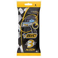 Набор одноразовых бритвенных станков Bic 3 Action 4шт в упаковке