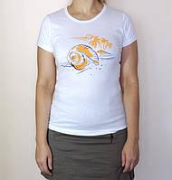 Футболка женская Морская ракушка, 100% хлопок р.44