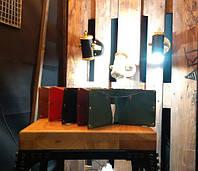 Кожаный кошелёк ручной работы на хонлитенах