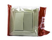 Выключатель двойной EL-BI, ZENA Кремовый
