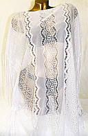 Пляжная туника - сетка цвет белый свободный размер 46/50