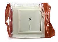 Выключатель одинарный проходной с подсветкой  EL-BI, ZENA кремовый