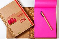 """ЭкоБлокнот с розовыми листами серии """"Flowers"""" + ручка"""