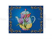 Схема вышивки бисером «Чайник /тюльпаны/»