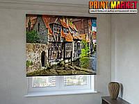 Рулонные шторы с фотопечатью дом на воде