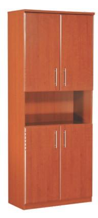 Шкаф книжный 4 дверцы МДФ